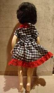 18 Signed 18VW BallerinaWALKING Black Hair Doll Sleepy Eyes