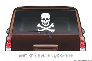 Large) SKULL AND BONES Sticker Decal