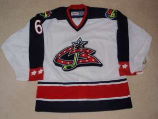 COLUMBUS BLUE JACKETS PRO ON ICE CCM JERSEY AJ AUTHENTIC COA