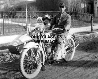 HARLEY DAVIDSON SIDECAR MOTORCYCLE  FAMILY PHOTO + BABY