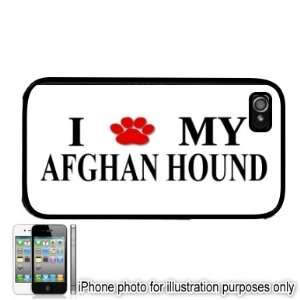 Afghan Hound Paw Love Dog Apple iPhone 4 4S Case Cover