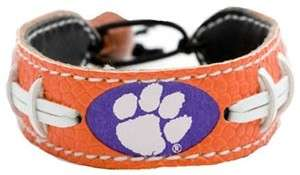 Clemson Tigers Team Color NCAA Football Bracelet