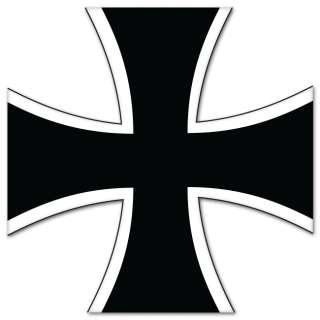 Germany Cross Coat of Arms bumper sticker 4 x 4