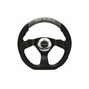 Shutt Auto SR Steering Wheel   Black Center Gray Leather