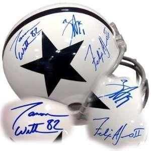 Austin Witten Jones Autographed Full Size Helmet   Sports