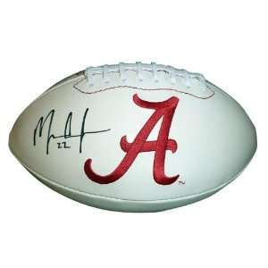 Mark Ingram Autographed Alabama Crimson Tide Logo Football