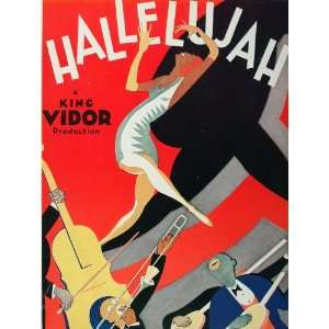 1929 Ad Hallelujah Vidor Black Americana Al Hirschfeld