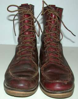Vintage Red Wing Irish Setter Boots 12D Brown Dog Leather USA Hunting