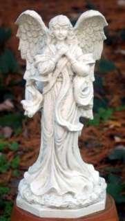 New Resin Thank Heaven Angel Garden Statue Dover White
