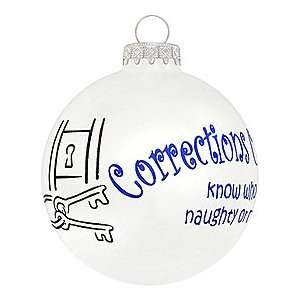 Corrections Officers Glass Ornament: Home & Kitchen