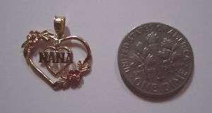 10K Gold double heart charm NANA Rose Yellow no scrap