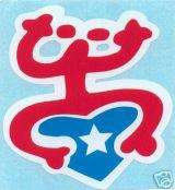 PUERTO RICO FLAG COQUI TAINO CAR STICKER , DECAL