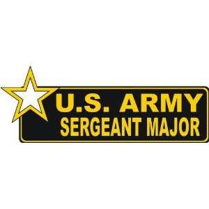 United States Army Sergeant Major Bumper Sticker Decal 9