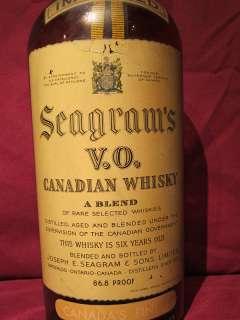SEAGRAM'S V.O. CANADIAN WHISKY DUMMY DISPLAY BOTTLE