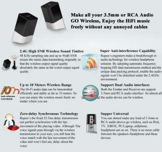 Universal 3.5mm RCA 2.4GHz Wireless Speaker HiFi Audio Adapter
