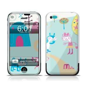 Characters Design Protective Skin Decal Sticker for Apple iPhone (2G