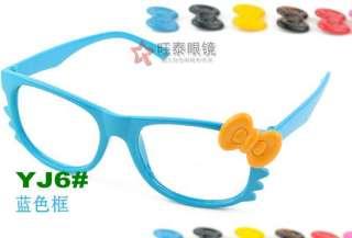 Bow Bowknot Women Girl Kawaii Glasses Frame Costume nerd nerdy
