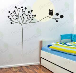 Nursery Kids Room Decor Tree Owl wall Art Decal sticker