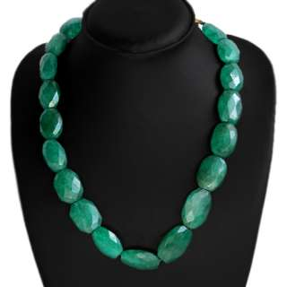MOST WONDERFUL CREATION 556.00 CTS NATURAL FACETED GREEN EMERALD BEADS
