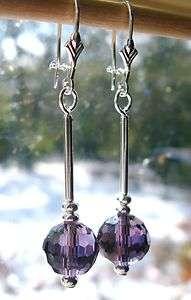 買 Olde Castle Arts •• Purple Crystal Cosmic Drop Earrings