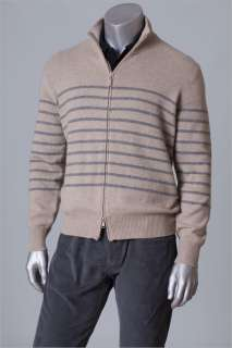 1560 BRUNELLO CUCINELLI SWEATER 100%CASHMERE PLUSH 4 PLY FULL ZIP Lg