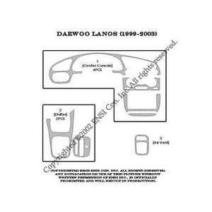 Daewoo Lanos Dash Trim Kit 99 03   8 pieces   Green Carbon Fiber