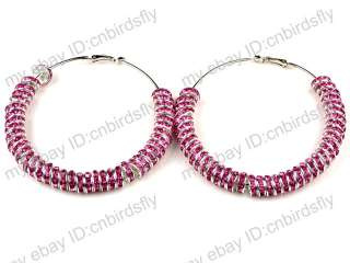 NEW Bling Crystal Rhinestone hoops Poparazzi Inspired Basketball wives