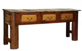 Console Table 78 Earthdrawer massive solid reclaimed wood