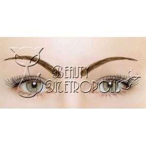Dark Brown 100% Human Hair Natural False Eye Brow Eyebrow