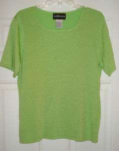 WOMENS SAG HARBOR LARGE SHORT SLEEVE PULLOVER SWEATER