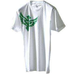 Fly Racing Badge T Shirt   2010   Large/White Automotive