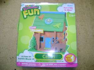Darice Fomies 3D Summer Fun Cabin Foam House Kit