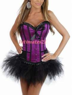 Sexy Purple Moulin Rouge Costume Corset /w tutu skirt