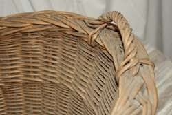 Vintage Wicker Basket Double Handles Laundry Basket Gathering Country