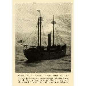 1909 Print Worlds Largest Ambrose Channel Lightship No. 87