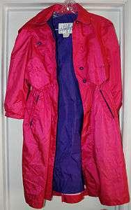 ROTHSCHILD GIRLS COAT RAIN JACKET SIZE 10 EUC PINK PURPLE TRENCH