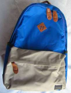 Brand New PORTER canvas backpack bag/Blue+Gray