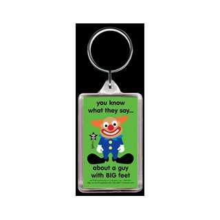 Big Feet Rude Clown Gag Gift Keychain: Toys & Games