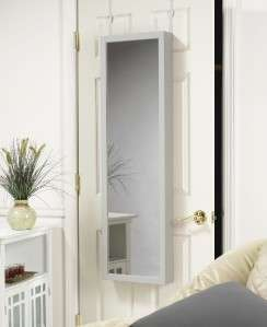JEWELRY ARMOIRE ORGANIZER OVER DOOR OR WALL HANG CHOICE OF 6 COLORS