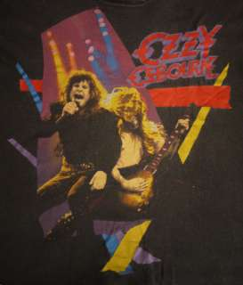 OZZY OSBOURNE Vintage 1980s Shirt metal rock tour