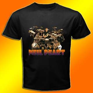 NEW NEIL PEART RUSH ROCK METAL MUSIC BLACK T SHIRT TEE