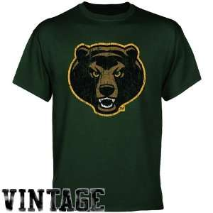 Baylor Bears Forest Green Distressed Logo T shirt Sports