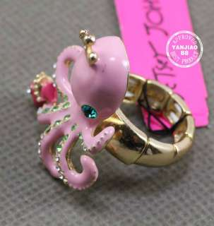 New Betsey Johnson Octopus Stretch Ring Earring