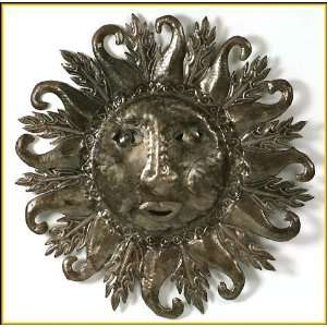 Haitian Sun Metal Art Wall Hanging   30 x 30