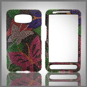crystal bling case cover HTC HD 2 Cell Phones & Accessories