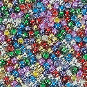 1 lb Shiny Pony Beads   Art & Craft Supplies & Kids