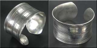 VERY STUNNING TIBETAN SILVER LUCKY CARVED BANGLE