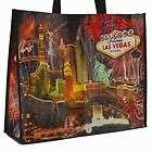 Las Vegas Sign Hotels Night Scene Reusable Tote Bag
