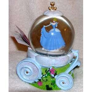 Disney Cinderella Carriage Musical Snow Globe Waterball