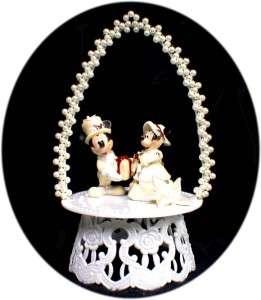 MICKEY MINNIE MOUSE DISNEY Wedding Cake Topper Winter